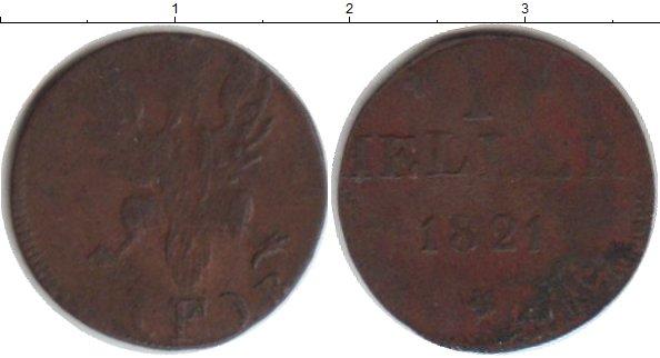 Картинка Монеты Франфуркт 1 геллер Медь 1821