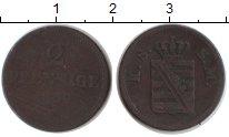 Изображение Монеты Германия Саксония 2 пфеннига 0 Медь