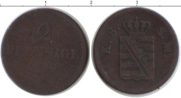 Картинка Монеты Саксония 2 пфеннига Медь 0