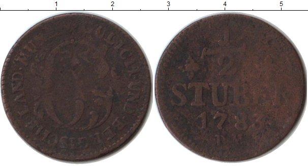 Картинка Монеты Юлих-Берг 1/2 стюбера Медь 1783