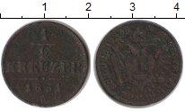 Изображение Монеты Австрия 1/2 крейцера 1851 Медь