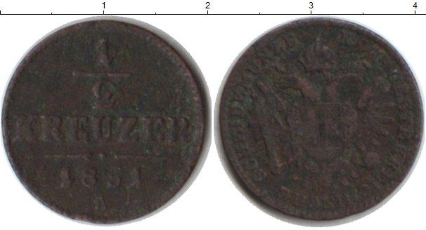 Картинка Монеты Австрия 1/2 крейцера Медь 1851