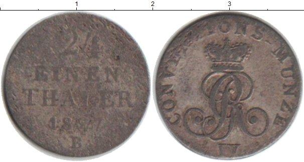 Картинка Монеты Ганновер 1/24 талера Серебро 1827