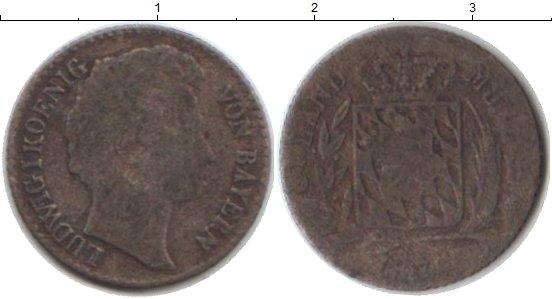 Картинка Монеты Бавария 3 крейцера Серебро 1827