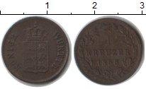 Изображение Монеты Вюртемберг 1 крейцер 1856 Медь VF