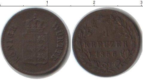 Картинка Монеты Вюртемберг 1 крейцер Медь 1856