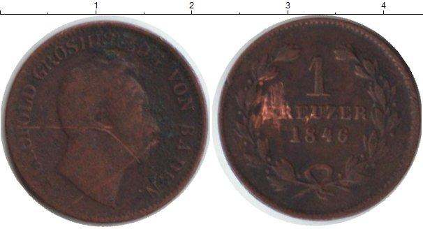 Картинка Монеты Баден 1 крейцер Медь 1846