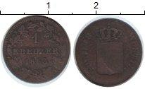 Изображение Монеты Вюртемберг 1 крейцер 1853 Медь VF