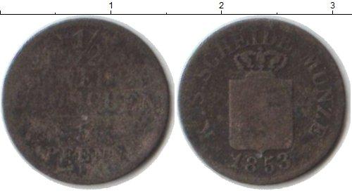 Картинка Монеты Саксония 1/2 гроша Серебро 1853
