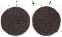 Изображение Монеты Саксония 1 геллер 1763 Медь