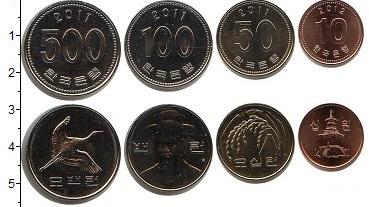 Изображение Наборы монет Южная Корея Южная Корея 2006-2012 0  UNC- В наборе 4 монет ном