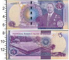 Изображение Банкноты Тонга 5 панга 0  UNC-