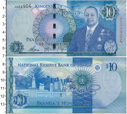 Картинка Боны Тонга 10 паанга  0