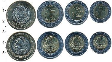 Изображение Наборы монет Мексика Мексика 2013-2014 0 Биметалл UNC- В наборе 4 монеты но