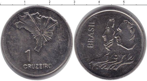 Картинка Монеты Бразилия 1 крузейро Медно-никель 1972