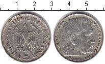 Изображение Монеты Третий Рейх 5 марок 1936 Серебро XF F. Пауль фон Гинденб