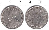 Изображение Монеты Канада 25 центов 1917 Серебро VF Георг V