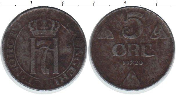 Картинка Монеты Норвегия 5 эре  1920
