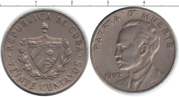 Картинка Монеты Куба 20 сентаво Медно-никель 1962