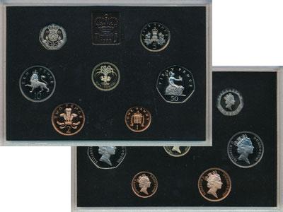 Изображение Подарочные монеты Великобритания Выпуск 1985 1985  Proof Представляем Вашему