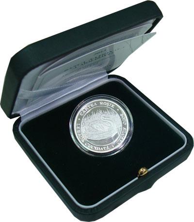 Изображение Подарочные монеты Молдавия Красная книга - Лебедь 2013 Серебро Proof Представляем Вашему