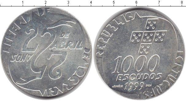 Картинка Монеты Португалия 1.000 эскудо Серебро 1999