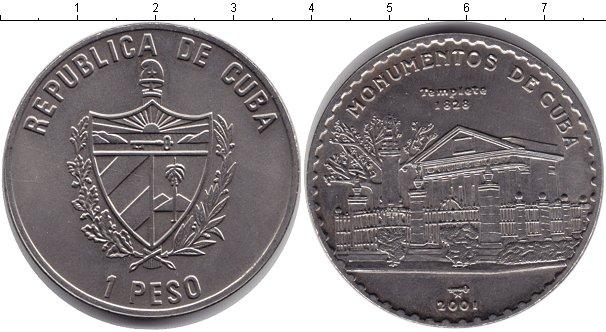 Картинка Монеты Куба 1 песо Медно-никель 2001