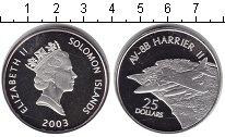 Изображение Монеты Соломоновы острова 25 долларов 2003 Серебро Proof- Елизавета II. AV-8B