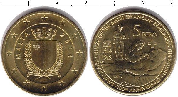 Картинка Монеты Мальта 5 евро  2014