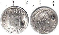 Изображение Монеты Франция 1/12 экю 0 Серебро  Дырка. Луи XIV