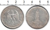 Изображение Монеты Третий Рейх 5 марок 1935 Серебро VF Церковь