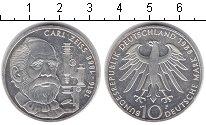 Изображение Монеты ФРГ 10 марок 1988 Серебро XF 100 лет со дня смерт