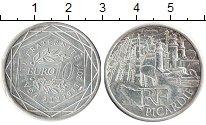 Изображение Монеты Франция 10 евро 2011 Серебро XF Регионы Франции. Пик