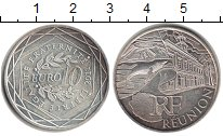 Изображение Монеты Франция 10 евро 2011 Серебро UNC- Регионы Франции. Рен