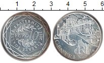 Изображение Монеты Франция 10 евро 2011 Серебро UNC- Регионы Франции. Цен
