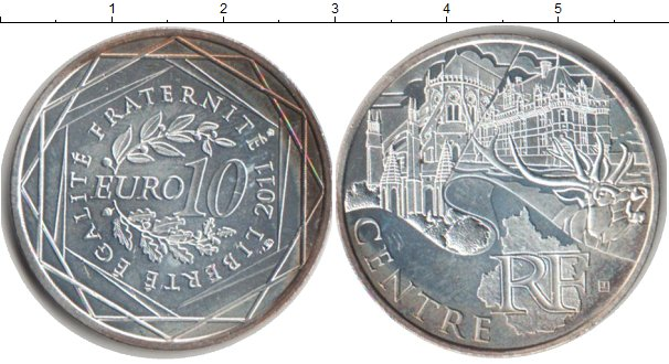 Картинка Монеты Франция 10 евро Серебро 2011