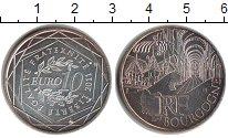 Изображение Монеты Франция 10 евро 2011 Посеребрение UNC- Регионы Франции. Бур