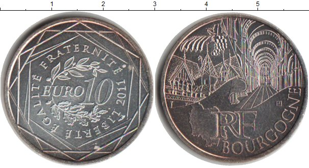 Картинка Монеты Франция 10 евро Посеребрение 2011