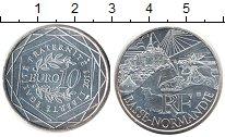 Изображение Монеты Франция 10 евро 2011 Серебро UNC- Регионы Франции. Ниж