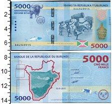 Изображение Боны Бурунди 5000 франков 2015  UNC- Народный танец