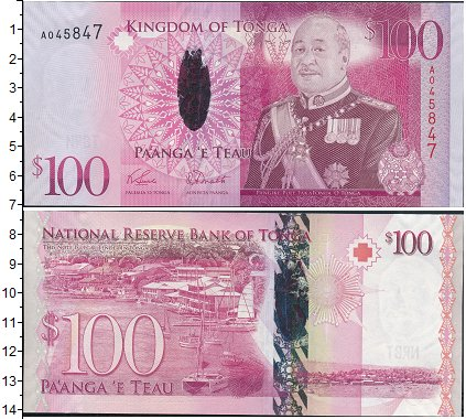 Картинка Боны Тонга 100 паанга  0