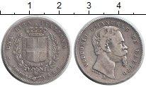 Изображение Монеты Италия 1 лира 1860 Серебро VF Витторио Имануил II