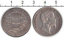 Изображение Монеты Италия 2 лиры 1860 Серебро VF