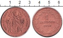 Изображение Монеты Ватикан 1 байочи 1850 Медь VF