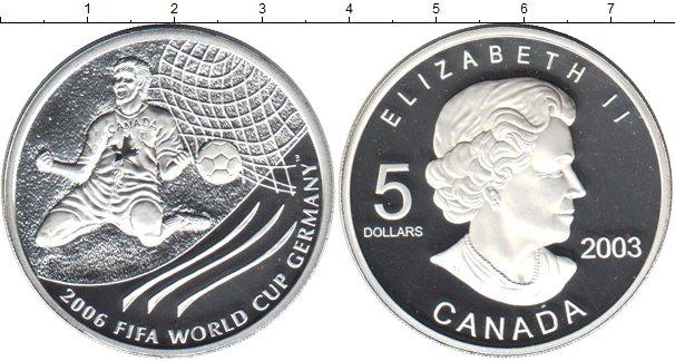 Картинка Монеты Канада 5 долларов Серебро 2003