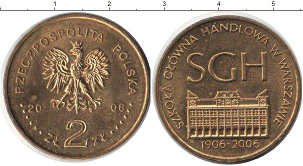 Картинка Монеты Польша 2 злотых Медно-никель 2006