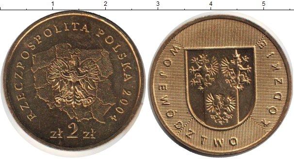 Картинка Монеты Польша 2 злотых Медно-никель 2004