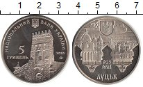 Изображение Монеты Украина 5 гривен 2010 Биметалл UNC- Луцк
