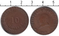Изображение Монеты Мексика 10 сентаво 1915 Медь VF Oaxaca