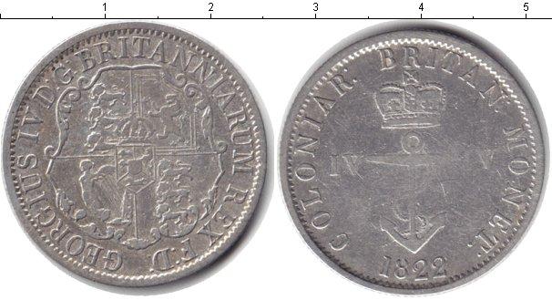 Картинка Монеты Британская Индия 1/4 доллара Серебро 1822